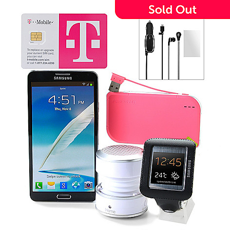 Samsung Galaxy Note 3 4G LTE Phone w/ T-Mobile No Annual