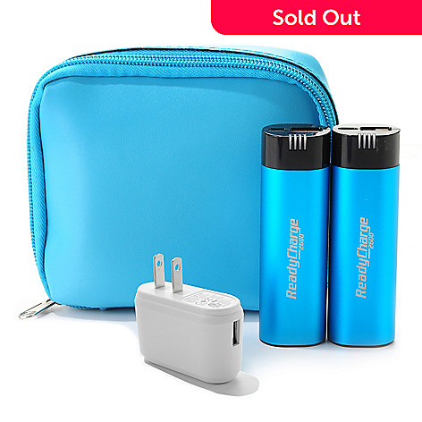 Readycharge Set Of Two 2600mah Portable Battery Chargers W Usb