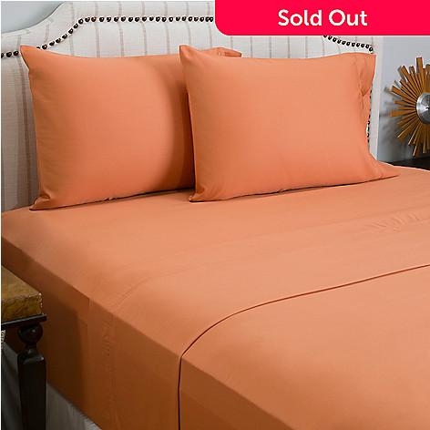 445 875 Cozelle 600tc Cotton Poly Blend Solid Four Piece Sheet