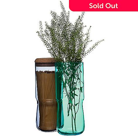 Sagaform Set Of Two Glass Vases Jars W Cork Lids Evine