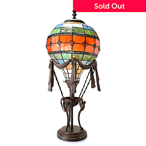 451 858 Tiffany Style 27 Hot Air Balloon Stained Gl Table Lamp