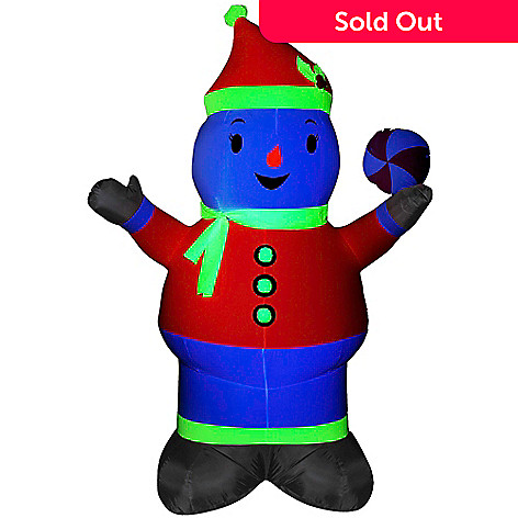 452 047 Gemmy Airn Inflatables 84 Neon Snowman Outdoor Decoration W Black