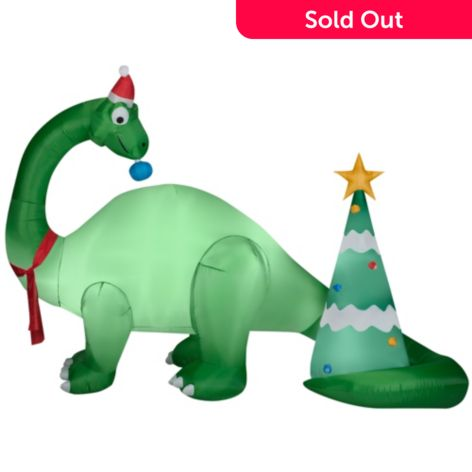 Christmas Tree Inflatables.Gemmy Airblown Inflatables 114 25 Brontosaurus Christmas Tree Scene Outdoor Decoration