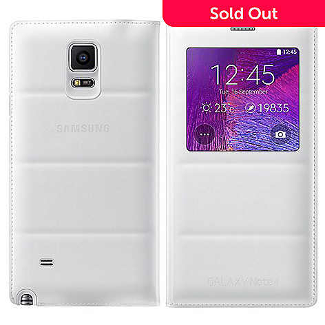check out 4c0e8 a769b Samsung Galaxy Note 4 S-View Flip Cover