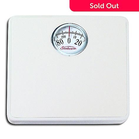 453 430 Sunbeam White Rotary Dial Bath Scale