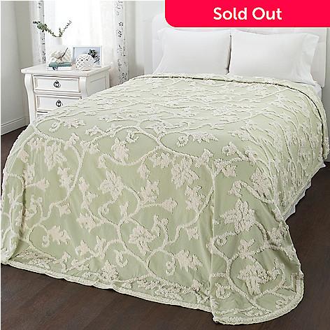 Chenille Bedspreads.North Shore Living Longbranch 100 Cotton Chenille Bedspread