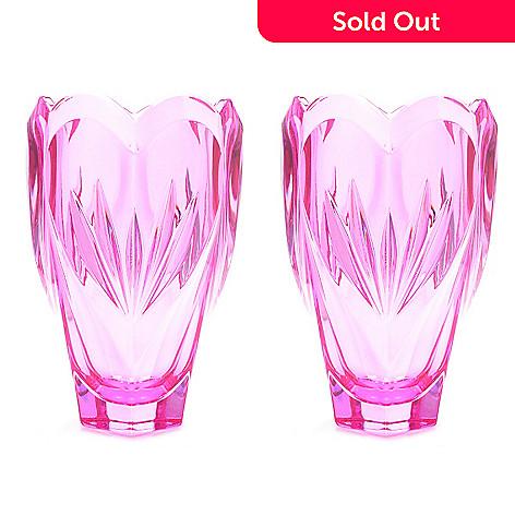 Marquis By Waterford Sweet Memories Set Of Two 625 Crystal Vases