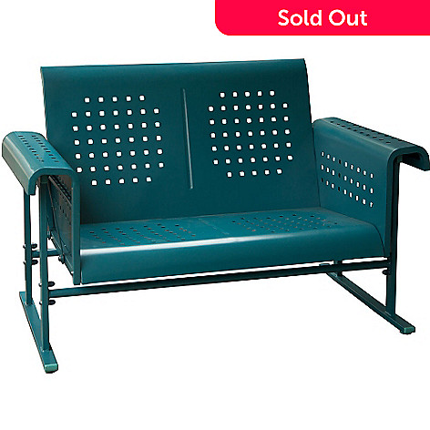 457 259 Hanover Outdoor Furniture Retro Patio Love Seat Glider