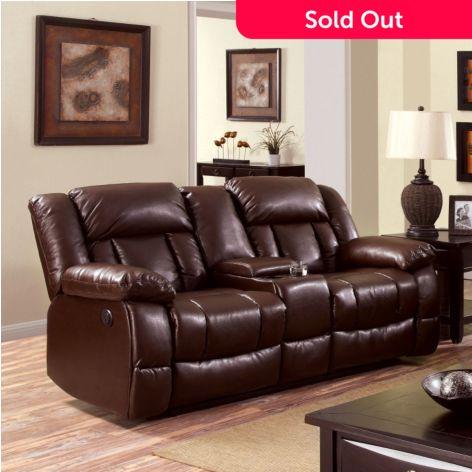 Wondrous Furniture Of America Vantas Faux Leather Love Seat Sofa Creativecarmelina Interior Chair Design Creativecarmelinacom