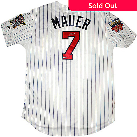 c75866affaf 457-609- Steiner Sports Minnesota Twins Authentic Home Jersey - Signed by  Joe Mauer