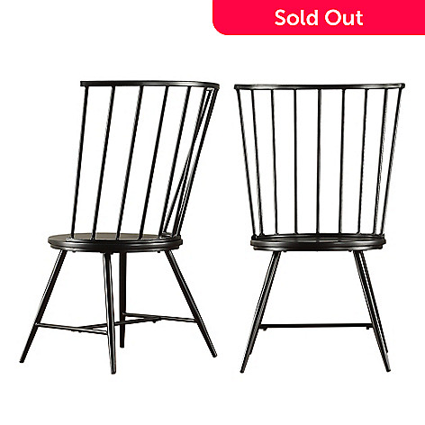 457 663 Homebasica Set Of Two 39 Payson High Back Windsor Chairs