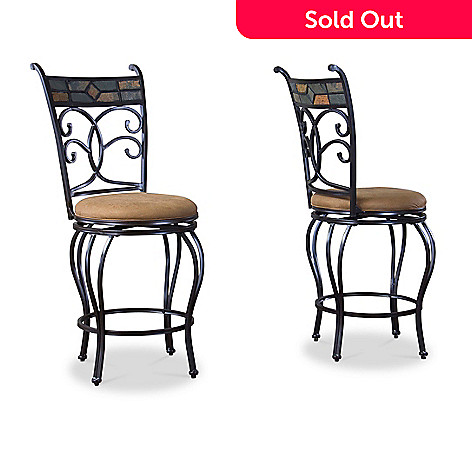 Fine Baxton Studio Set Of Two 42 25 Veranda Metal Transitional Bar Stools Gmtry Best Dining Table And Chair Ideas Images Gmtryco