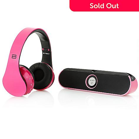 202d9332911 459-543- Bytech Bluetooth Wireless On-Ear Headphones & Speaker Bundle