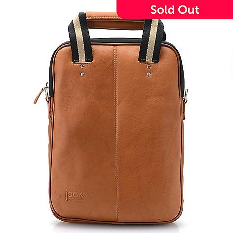 JILL-E Designs Leather Vertical Laptop Bag w  RFID Blocking Card ... 9416a45c6db3