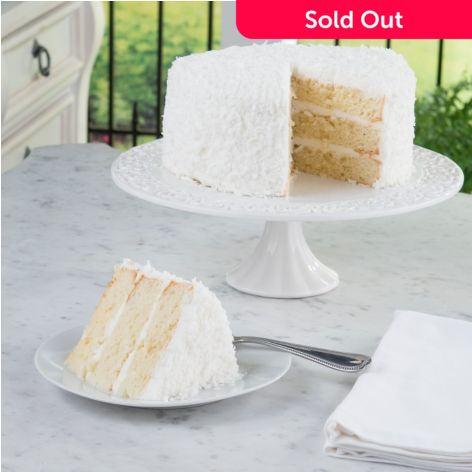 Paula Deen 3 Lbs Deluxe Three Tiered Coconut Layered Yellow Cake Evine