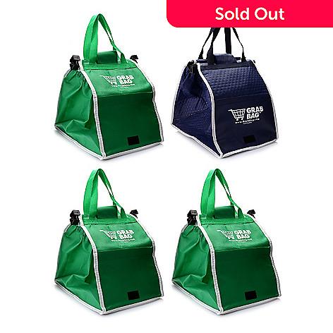 14d781ef5ff Grab Bag Set of Four Expandable   Reusable Shopping Bags w  Cart ...