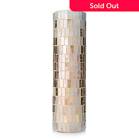 Style At Home With Margie 105 Wireless Led Mosaic Glass Pillar