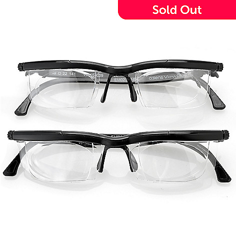 f9d12428d15 460-619- Adlens View Plus Set of Two Adjustable Focus Reading Eyeglasses w