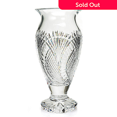 Waterford Crystal Seahorse Clannad 12 Hand Crafted Footed Vase Evine