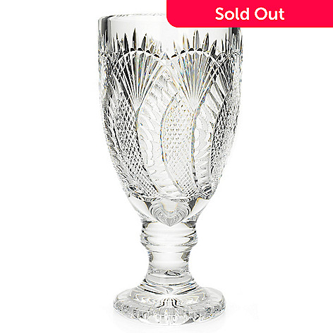 House Of Waterford Seahorse 13 Crystal Diamond Wedge Cut Footed