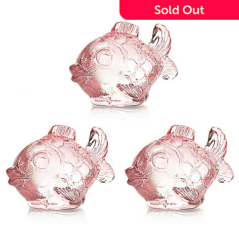 Marquis By Waterford Confetti 3 Piece 4 Crystal Fish Paperweight Set