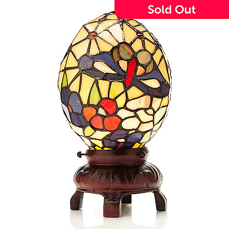 462 027 Tiffany Style 13 Stained Gl Egg Accent Lamp