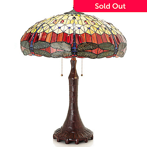 Tiffany Style 30 Dragonfly Stained Glass Table Lamp Evine