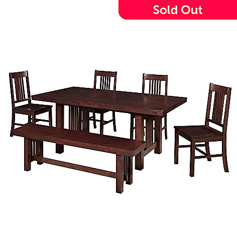 Walker Edison Choice Of Five Piece Mission Style Dining Set W Bench