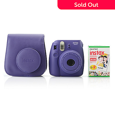 Fujifilm Instax Mini 8 Instant Camera Set w/ Film & Camera Case