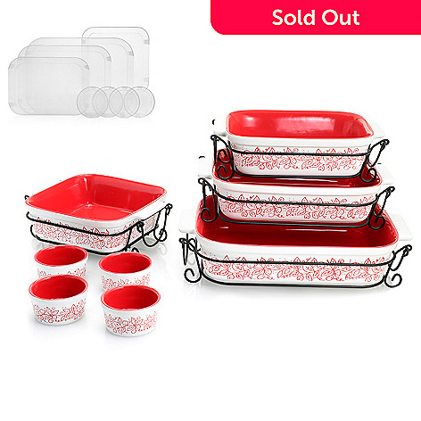 Cook\'s Companion® 20-Piece Ceramic Oven-to-Table Bake & Serve Set