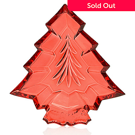 """463-277- Marquis by Waterford 7"""" Wedge Cut Crystal Christmas Tree Tray"""