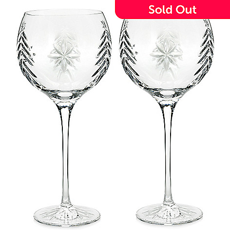 64a5cc3501a 463-297- Waterford Crystal Christmas Nights Set of Two 12 oz Wedge Cut  Balloon