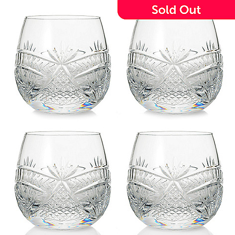 f98169dcb8f 463-745- Waterford Crystal Seahorse Nouveau Set of (4) 8 oz Double