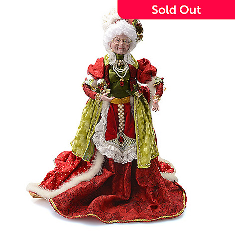 mark roberts mrs claus cooking limited edition 24 collectible evine