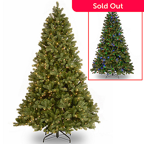 6cf216cc6b80 7.5  Douglas Fir Artificial Christmas Tree w  Dual Color LED Lights ...