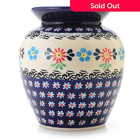 Polish Stoneware Choice Of Pattern 5 Hand Painted Posy Vase Evine