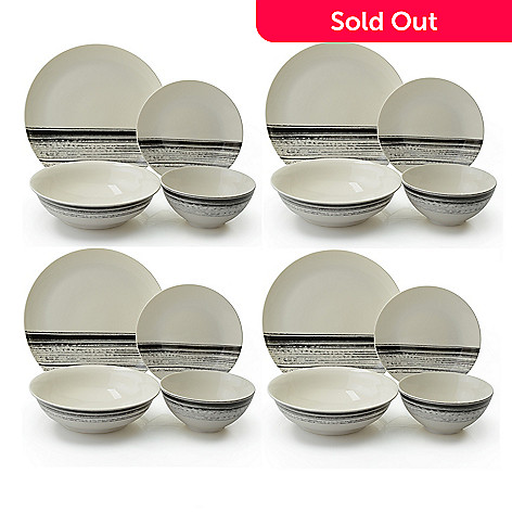 15eda881be7 464-428- Todd English Tabletop Series New Bone China 16-Piece Dinnerware Set