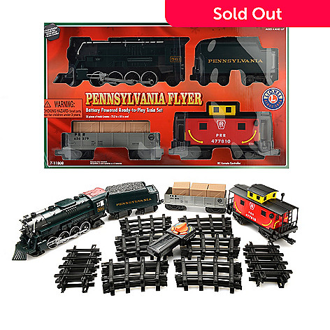 Lionel Trains Pennsylvania Flyer Freight Ready-to-Play Large Gauge Train Set