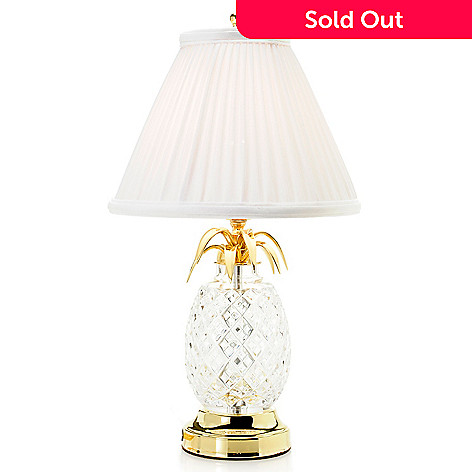 Waterford crystal hospitality 18 pineapple table lamp w pleated shade 465 205 waterford crystal hospitality 18 pineapple table lamp w pleated shade aloadofball Image collections