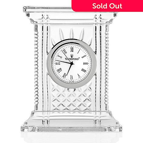 466 120 Waterford Crystal Atrium 7 Diamond Wedge Cut Desk Clock