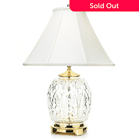 Waterford crystal 245 doyle cross cut table lamp w shantung shade 466 246 waterford crystal 245 doyle cross cut table lamp w shantung aloadofball Image collections