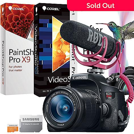 Canon EOS Rebel T5i 18MP DSLR Camera w/ Video Creator Kit & Accessories