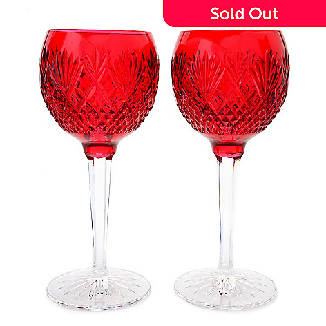 74243b82ec4 Waterford Crystal Sullivan Set of 2 (6 oz) Footed Hock Wine Glasses ...