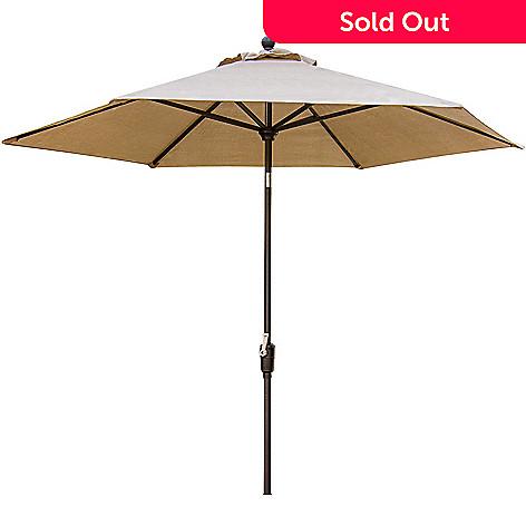 Concord Market Tan Pivot Patio Umbrella
