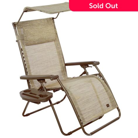 Remarkable Bliss Hammocks Deluxe Xl Zero Gravity Chair W Canopy Headrest Tray Cjindustries Chair Design For Home Cjindustriesco