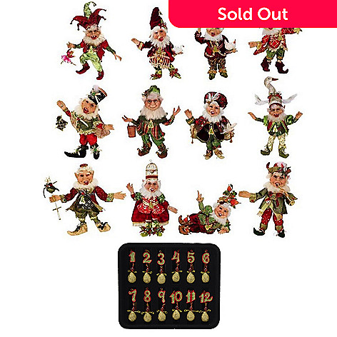 469 094 mark roberts 12 days of christmas limited edition 12 - 12 Days Of Christmas Ornament Set