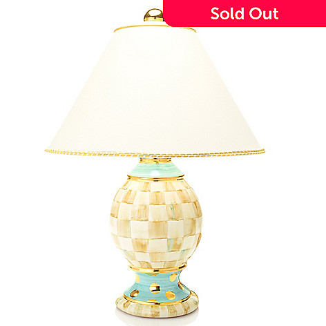 Mackenzie Childs 23 5 Hand Painted Ceramic Globe Table Lamp W