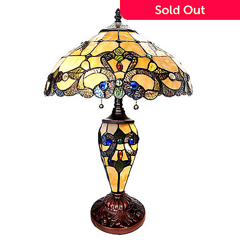 Tiffany style 20 magna carta stained glass table lamp evine 470 439 tiffany style 20 magna carta stained glass table lamp aloadofball Image collections