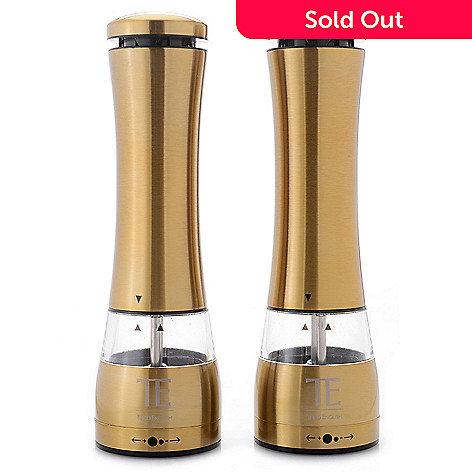 Todd English Battery Powered Stainless Steel Salt Pepper Grinder