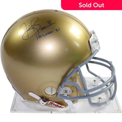 premium selection 78548 d9443 Steiner Sports Memorabilia Tim Brown Notre Dame Authentic Signed Full Size  Proline Football Helmet